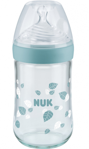 Nuk Yeşil Cam Biberon Nature Sense - 240 ml Sl No:2