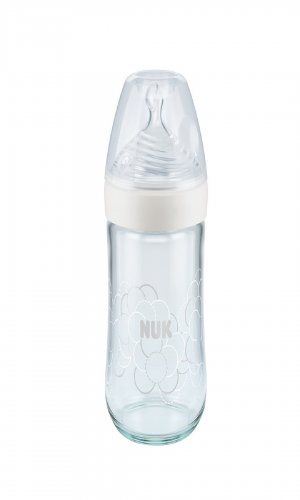 Nuk Beyaz Cam Biberon Nature Sense 240 ml No:1 M